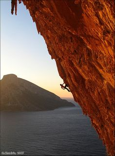 Kalymnos, Greece! Hopefully I will be climbing here this summer.