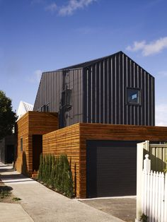 separation project 7 Contemporary Cousin Homes in Melbourne by dKO Architecture Facade Architecture, Residential Architecture, Amazing Architecture, Building Design, Building A House, Landscape Arquitecture, Pergola, Mansard Roof, Solar Panel Cost