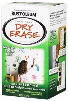 Rust-Oleum 241140 Dry Erase Brush-On Kit  White: http://www.amazon.com/Rust-Oleum-241140-Erase-Brush-On-White/dp/B000PGBCOC/?tag=greavidesto05-20