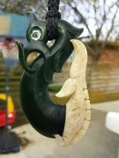 Nz whale bone and jade