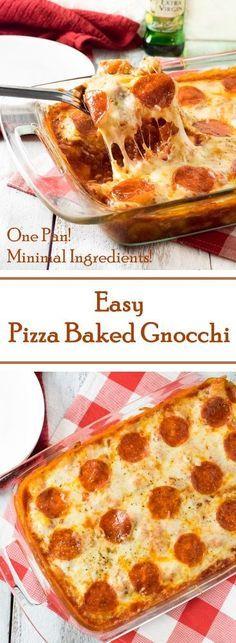 Easy Pizza Baked Gnocchi Recipe