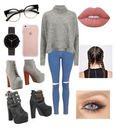 """Untitled #54"" by paigeo3 on Polyvore featuring Topshop, Designers Remix, Jeffrey Campbell, I Love Ugly and Lime Crime"