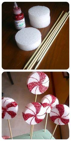 Las fabulosas decoraciones de caramelos tan tradicionales de la Navidad, por lo general tienen un costo alto, sin embargo aquí te mostrar...