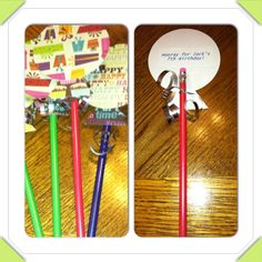 Birthday treats for school! Balloon pencils