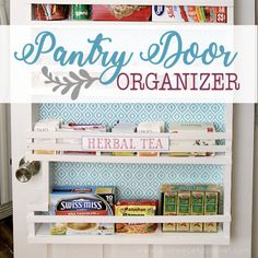 Build your own affordable pantry door organizer with some wood and a few basic tools. It& easier than you think and you& love the extra storage! Pantry Door Organizer, Over The Door Organizer, Pantry Storage, Pantry Organization, Extra Storage, Door Shelves, Basic Tools, Wood Glue, Kitchen Pantry