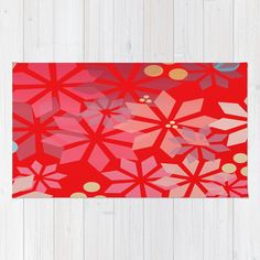 Poinsettia Pattern Rug by Mirimo | Society6 #rug #tappeto #homeAccessory