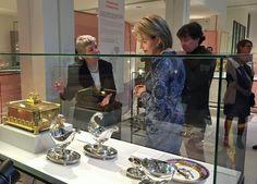 Queen Mathilde visits the 'Design Derby Nederland-Belgie' Exhibition