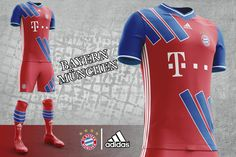 Bayern München Home, Away and Third Kit Concepts by Mothman Revealed - Footy Headlines Soccer Kits, Football Kits, Adidas Kit, Ford Mustang Wallpaper, Fc Bayern Munich, Mothman, Home And Away, Champions League, Concept