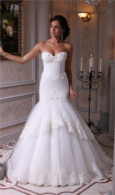 Elegant Off The Shoulder Sweetheart White Lace Wedding Dress Vintage Lace Mermaid Wedding Dresses 2016 Brautkleid Robe Mariage