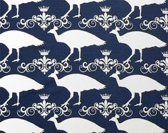 Blue  Fabric. Premier Prints. Peacock  Premier blue and white .  Slub  Fabric by yard by TwistedBobbinDesigns on Etsy
