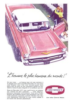 1957 Chevrolet Bel-Air Poster Size Ad by AtomicScrapbook on Etsy