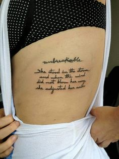 Tattoo tatuaje #unbreakable #letras #words