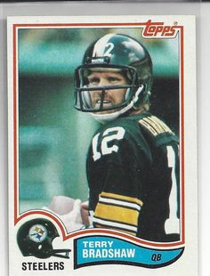 289cd487c terry bradshaw 1982 topps  NFL  Football trading card  204 steelers ex from   2.5