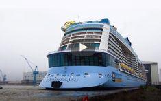 Asi fue el momento en que el espectacular Odyssey of the Seas sale al exterior del astillero Meyer Werft y ve la luz del día. No te pierdas el vídeo que recoge la salida del hangar donde fue construido. Paros, Royal Caribbean, Sydney Harbour Bridge, Train, Tug Boats, Cruises, Caribbean, Bridges, Strollers