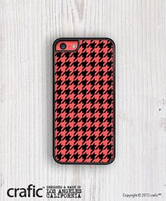 Retro Red Houndstooth iPhone 5C Case