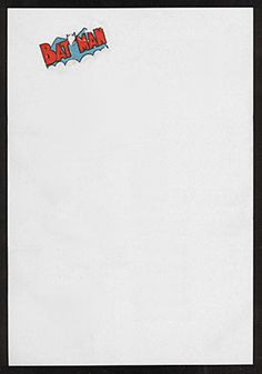 Bob Kane, c.1943 | From the collection of F. Nash  The letterhead of Batman creator Bob Kane.