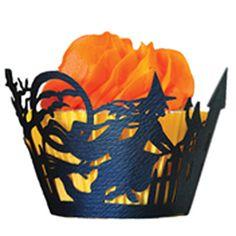 Witch Cupcake Wrapper     http://www.fancyflours.com/product/cupcake-wrapper-Halloween-witch/halloween-party-theme