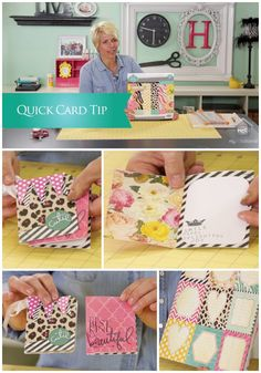 CREATE TO REMEMBER WITH HEIDI SWAPP: QUICK CARD TIP Join Heidi as she shares how quick and simple it can be to take a paper pad and create fun gift cards and more. She will show you one of her favorite tips for creating a stylish card when time is not plentiful. For more inspiring ideas from Heidi Swapp, visit her website at http://www.heidiswapp.com #mycraftchannel #heidiswapp #cards