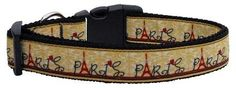 Mirage Pet Products with Love from Paris Ribbon Dog Collar, Medium *** Wow! I love this. Check it out now! : Collars for dogs