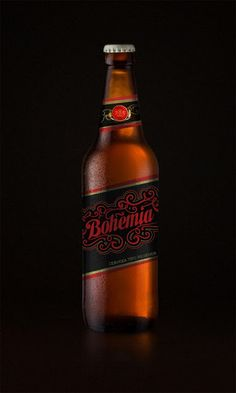 Propuesta de etiqueta Cerveza Bohemia by Carola Then, via Behance