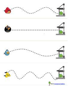 Grafomotricidad Writing Activities, Preschool Activities, Motor Activities, Christmas Activities, Tracing Worksheets, Kindergarten Worksheets, Worksheets For Kids, Angry Birds, Farm Animals Preschool
