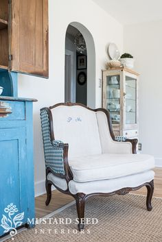 french begere chair | miss mustard seed