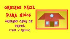 COMO HACER UNA CASA DE PAPEL  ORIGAMI CASITA  HOUSE  ORIGAMI FACIL PARA NIÑOS