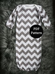 Baby sewing pattern. Newborn gown. PDF pattern, easy with lots of pictures. Sewn with sewing machine alone.   (From lippy brand patterns) by lippybrand on Etsy https://www.etsy.com/listing/123014258/baby-sewing-pattern-newborn-gown-pdf