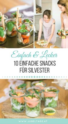 Fingerfood & Snacks: 10 einfache und raffinierte Rezepte für eure Party - Lo que Necesitas Saber Para Preparar Cócteles Fabulosos New Years Eve Snacks, New Year's Snacks, New Years Appetizers, Snacks Für Party, Easy Snacks, Appetizers For Party, Party Finger Foods, Finger Food Appetizers, Healthy Appetizers