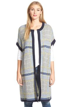 Two+by+Vince+Camuto+Plaid+Jacquard+Long+Cardigan+available+at+#Nordstrom