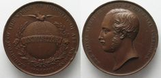 1851 British Medals EXHIBITION LONDON 1851 / PRINCE ALBERT Exhibitor medal SWITZERLAND 44mm # 96503 EF