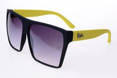 Ray Ban Clubmaster RB2128 Sunglasses Yellow/Black Frame