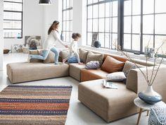 Altijd in beweging! Prachtige elementen #hoekbank. Om #verliefd op te worden. Couch, Happy New Home, Lounge Sofa, Nursery Furniture, Corner Sofa, Online Furniture, Home And Living, Living Room, Couches