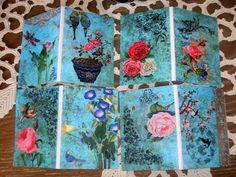 Alte Blumen. Wer liebt sie nicht? Vorgedruckte Geschenkanhaenger zum Ausschneiden. Sie koennen einseitige Anhaenger oder aus einem paar Doppelseite...
