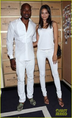 3dac2ec8ab82 Models Lindsay Ellingson   Tyson Beckford Bring Their Significant Others to  US Open!