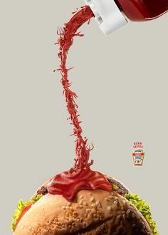 Heinz - Burn Inside on Digital Art Served Clever Advertising, Print Advertising, Print Ads, Advertising Campaign, Desgin, Visual Metaphor, Guerilla Marketing, Best Ads, Ads Creative