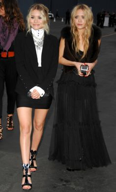 Loving the Olsen twins in monochrome!
