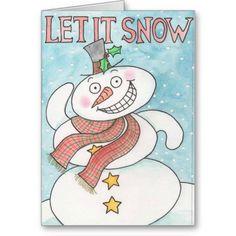 Fun let it snow greeting card