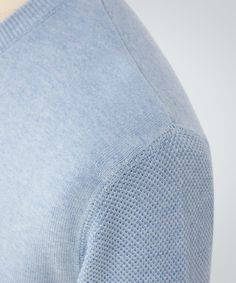 Peter Werth - Mintern Pale Blue Crew Knit - Knitwear - Collection