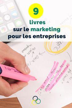 Découvre 9 livres qui vont t'aider avec ton marketing. #livres #marketing #copywriting Marketing, Blog, Business, Blogging