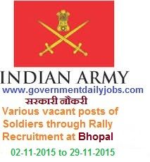ARMY RALLY RECRUITMENT 2015 UNIT QUOTA ~ Government Daily Jobs