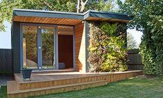 eDEN: casetas prefabricadas con jardín VERTICAL