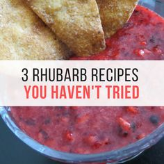 Skip all the sugar! These 3 healthy, mouth-watering Rhubarb recipes will have you wanting rhubarb all summer. Rhubarb Recipes | Healthy Recipes | Cooking with Rhubarb