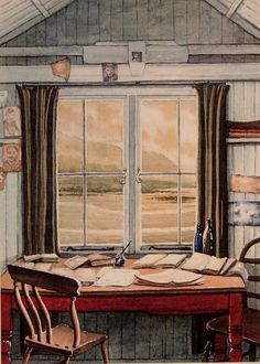 The Writing Shed  Dylan Thomas Laugharne.   by AndrewsWatercolours