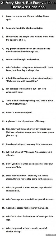 21 Very Short, But Funny Jokes. #12 Is Perfect.