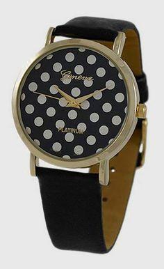 Black Polka Dot Watch