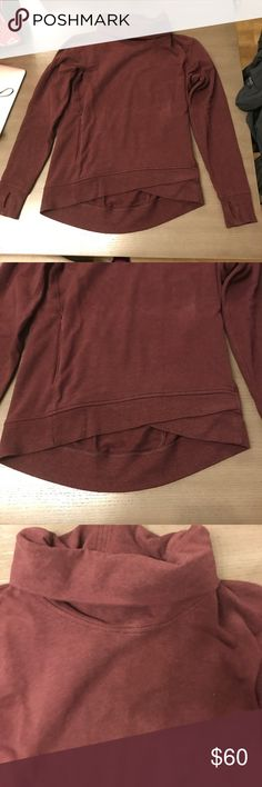 Lululemon Sweater Stretchy French Terry Fabric, good condition, kangaroo hidden pocket, Bordeaux/Maroon color lululemon athletica Sweaters