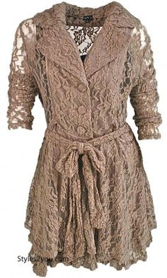 Julia Vintage Lace Jacket In Taupe
