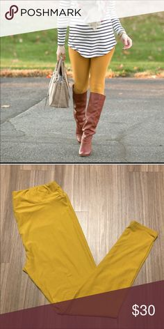 Lularoe Tall and Curvy in Mustard Yellow Excellent Condition Worn twice and washed per LLR instructions. They're just too big on me. Great color!! LuLaRoe Pants Leggings