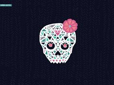 Sugarheart Skull   Barbarian Cases   limited edition phone cases and wallpaper downloads   colorful boho and bohemian watercolor art for your phone